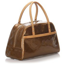 Louis Vuitton-Louis Vuitton Brown Vernis Tompkins Square-Marron,Bronze