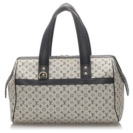 Louis Vuitton-Louis Vuitton Mini Lin Lin Josephine PM Gris-Noir,Gris