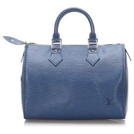 Louis Vuitton-Louis Vuitton Blue Epi Speedy 25-Bleu