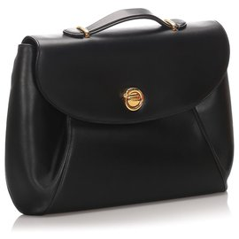 Cartier-Cartier Black Panthere Leather Briefcase-Black
