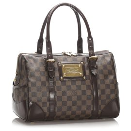 Louis Vuitton-Louis Vuitton Brown Damier Ebene Berkeley-Marron