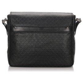 Gucci-Gucci Black Diamante Imprime Messenger Bag-Noir