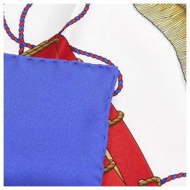Hermès-Foulard en soie Hermes Bleu Les Tambours-Bleu,Multicolore