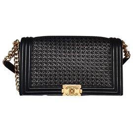 Chanel-Limited edition Chanel medium boy bag-Black