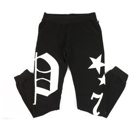 Philipp Plein-Philpp Plein junior Sweatpants Trousers Black and White for Boys 12-13 years old-Black,White
