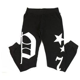 Philipp Plein-Pantalon de survêtement Junior Philpp Plein noir et blanc pour garçon 12-13 ans-Noir,Blanc