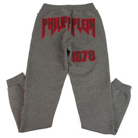 Philipp Plein-Philpp Plein junior Sweatpants Trousers Gray and red for Boys 14-15 years old-Red,Grey