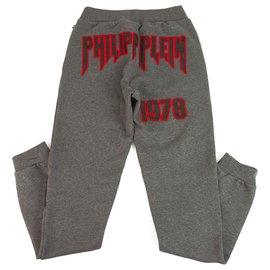 Philipp Plein-Pantalon de survêtement junior Philpp Plein gris et rouge pour garçon 14-15 ans-Rouge,Gris