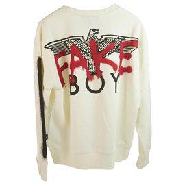 Autre Marque-BOY London off white Spray paint Sweatshirt-Black,Cream