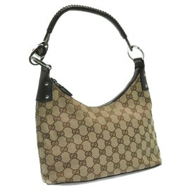 Gucci-Gucci GG Canvas Sac à bandoulière-Beige