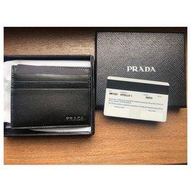 Prada-Prada card wallet new-Black