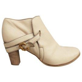 Chloé-low-boots Chloé p 36-Beige