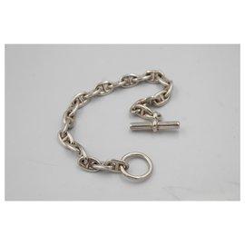 Hermès-Hermès silver bracelet Chaine d'ancre PM-Argenté