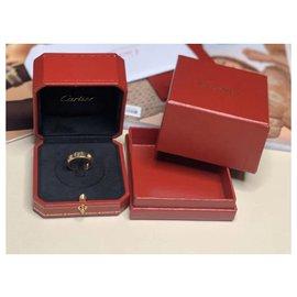 Cartier-Bague Cartier Love en or jaune et 3 diamants-Doré