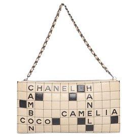 Chanel-Sac à bandoulière Cambon Crossword-Noir