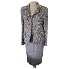 Chanel-Chanel bouclé jacket , Skirt suit-Multiple colors