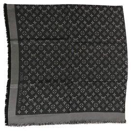 Louis Vuitton-Scialle Louis Vuitton Shine nero-Noir