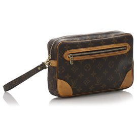 Louis Vuitton-Louis Vuitton Marron Monogram Marly Dragonne GM-Marron