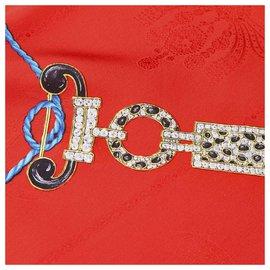 Cartier-Écharpe en soie imprimée rouge Cartier-Rouge