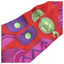 Hermès-Foulard en soie Twilly imprimé multi Hermes-Multicolore