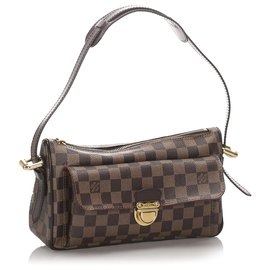 Louis Vuitton-Louis Vuitton Brown Damier Ebene Ravello GM-Marron,Marron foncé