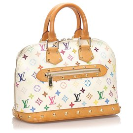 Louis Vuitton-Louis Vuitton monogramme blanc multicolore Alma PM-Blanc,Multicolore
