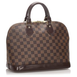 Louis Vuitton-Louis Vuitton Brown Damier Ebene Alma PM-Marron,Marron foncé