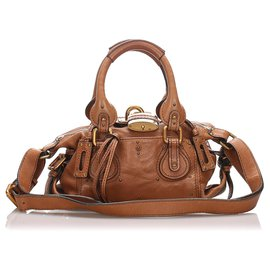 Chloé-Chloe Brown Leather Paddington Satchel-Brown