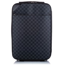 Louis Vuitton-Louis Vuitton Noir Damier Graphite Pegase Light 55-Noir,Autre,Gris