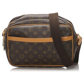 Louis Vuitton-Louis Vuitton Brown Monogram Reporter PM-Marron
