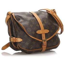 Louis Vuitton-Louis Vuitton Monogram Marron Saumur 30-Marron