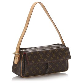 Louis Vuitton-Louis Vuitton Monogram Marron Viva Cite MM-Marron