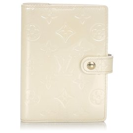 Louis Vuitton-Louis Vuitton Brown Vernis agenda PM-Marron,Beige