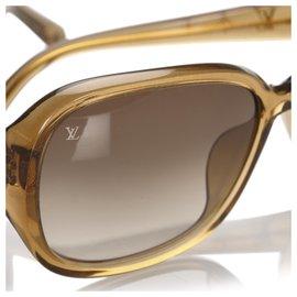 Louis Vuitton-Lunettes de soleil rondes teintées marron Louis Vuitton-Marron