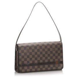 Louis Vuitton-Louis Vuitton Brown Damier Ebene Tribeca Long-Marron