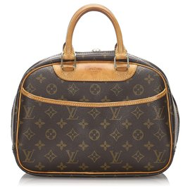 Louis Vuitton-Louis Vuitton Brown Monogram Trouville-Marron