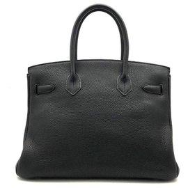 Hermès-HERMES BIRKIN 30 Togo noir GHW-Noir
