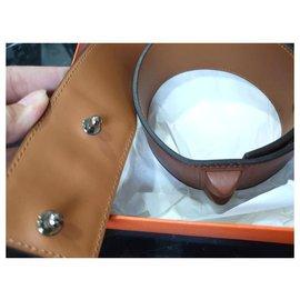 Hermès-Rare Hermes brown shadow CDC  belt 70cm-Brown