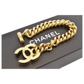 Chanel-Chanel Vintage Gold CC-Jaune
