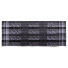 Fendi-Foulard gris en laine zucca gris-Gris
