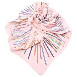 Hermès-Foulard en soie Hermes Multi A Vos Crayons-Multicolore