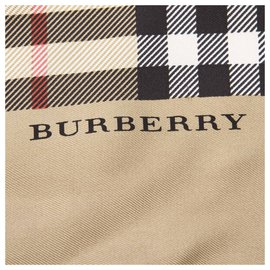 Burberry-Burberry Brown House Check Silk Scarf-Brown,Beige
