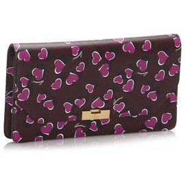 Gucci-Pochette Gucci en cuir rouge Hearvery en bon état-Rose,Rouge,Autre