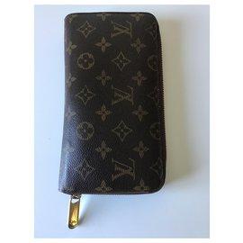 Louis Vuitton-XL Zippy Organizer Louis Vuitton new-Brown