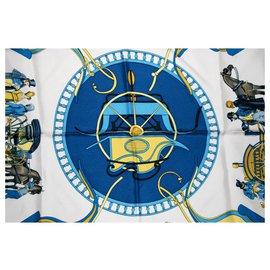 Hermès-CARROSIER par P Ledoux-Bleu,Jaune