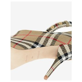 Burberry-open toe burberry-Beige
