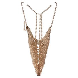 Chanel-Long necklaces-White