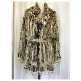 K-Yen-Sublime new K-Yen Rabbit fur coat-Beige