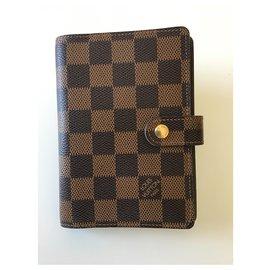 Louis Vuitton-New Louis Vuitton PM checkered agenda-Dark brown