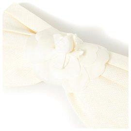 Chanel-ivory camelia xxl-Écru